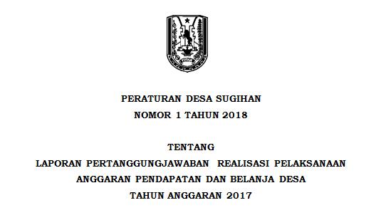 Peraturan Desa Sugihan Nomor 1 Tahun 2018