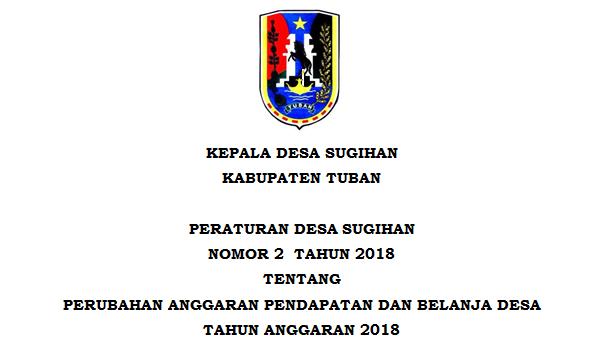Peraturan Desa Sugihan Nomor 2 Tahun 2018